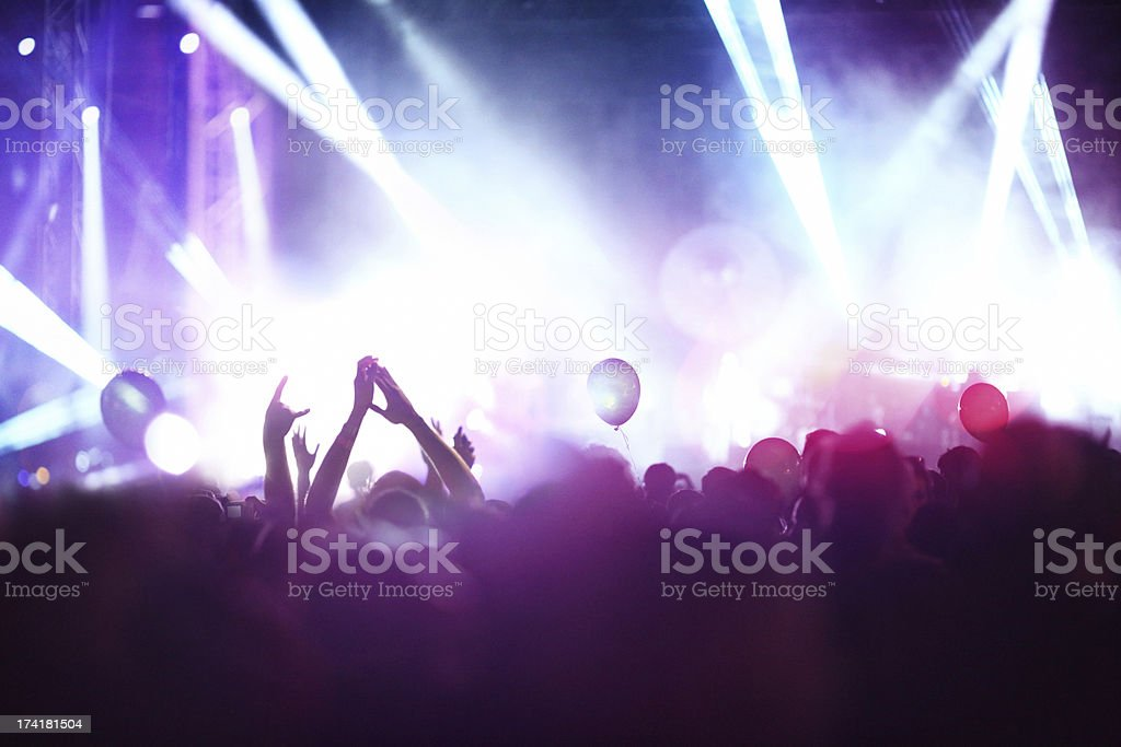 Rock concert. royalty-free stock photo