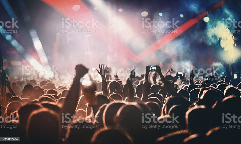 Rock concert. - Royalty-free Applaudiseren Stockfoto