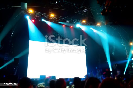 istock Rock concert, white screen isolated. (clipping path) 153837468