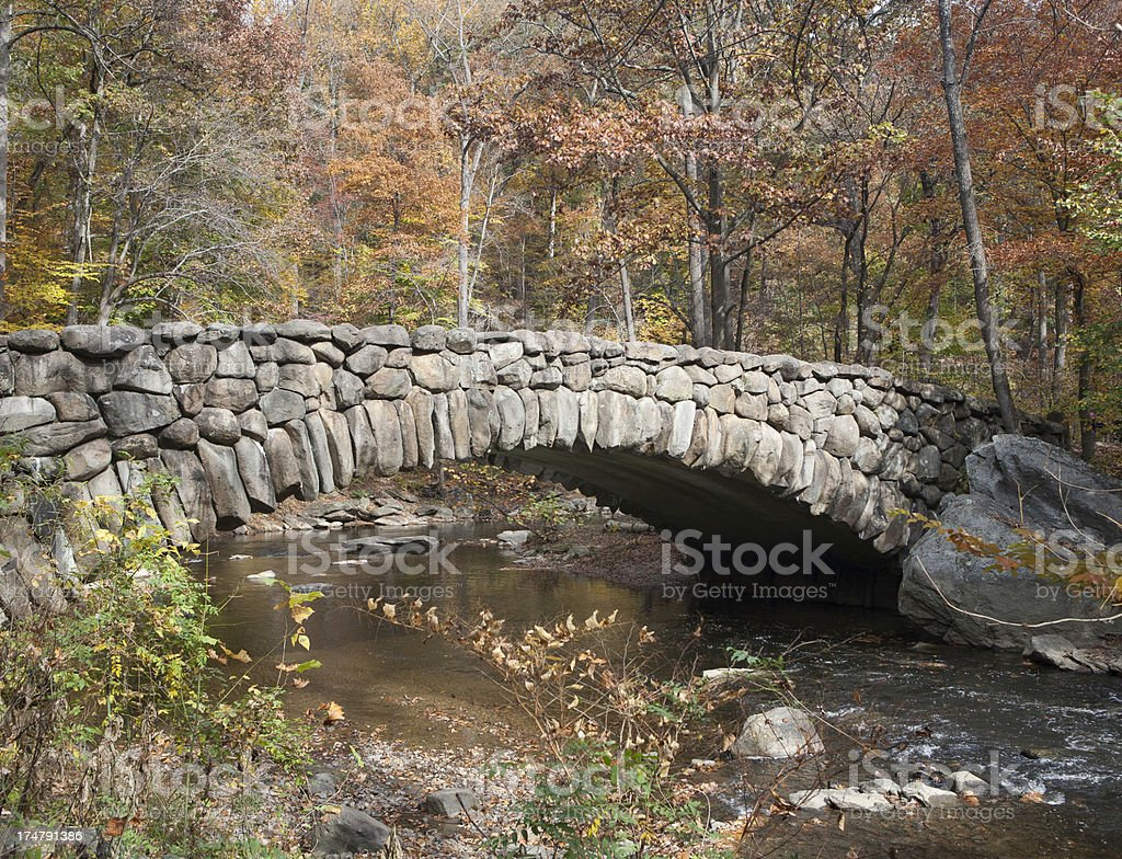 Rock Creek Bridge in Fall stock photo