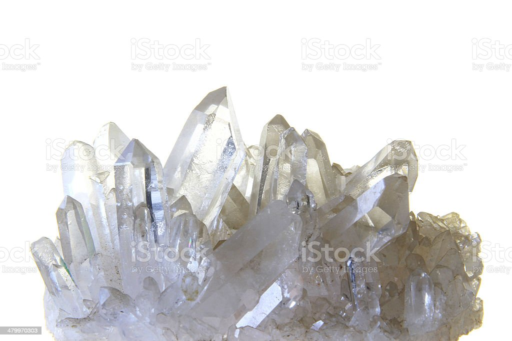 Rock crystal stock photo