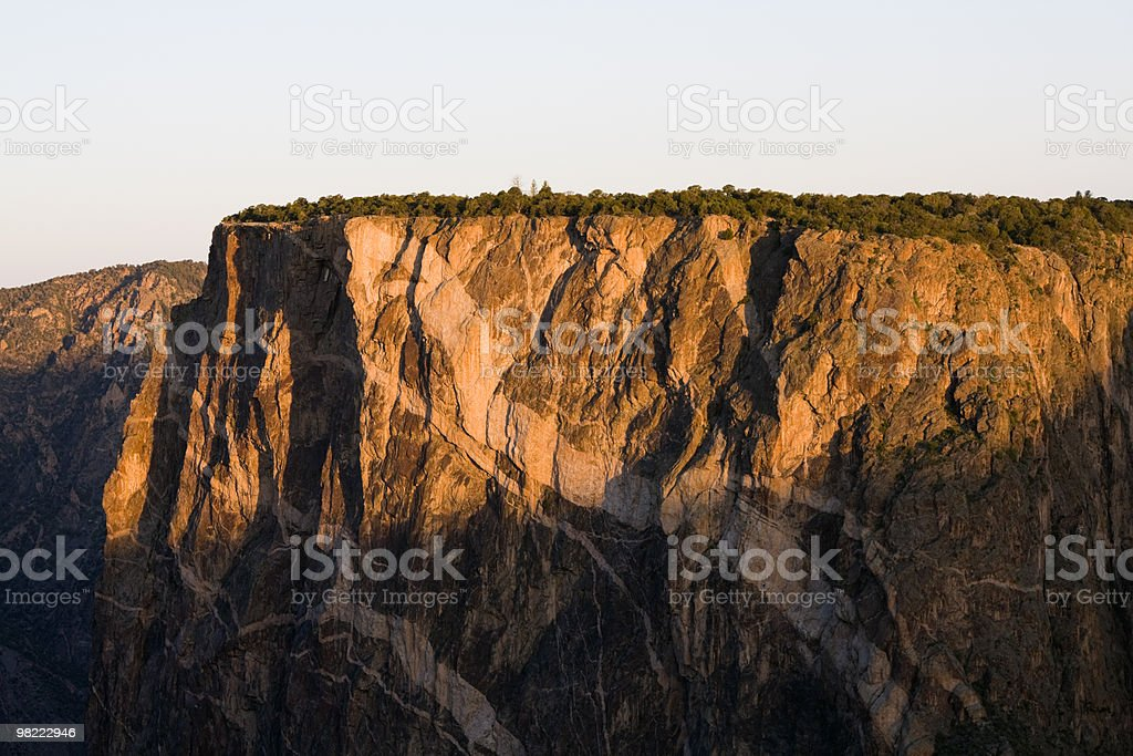 Rock Details in Black Canyon of the Gunnison royalty-free stock photo