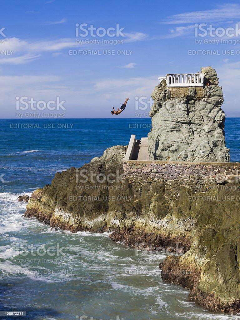 Rock diver, Mazatlan, Mexico stock photo