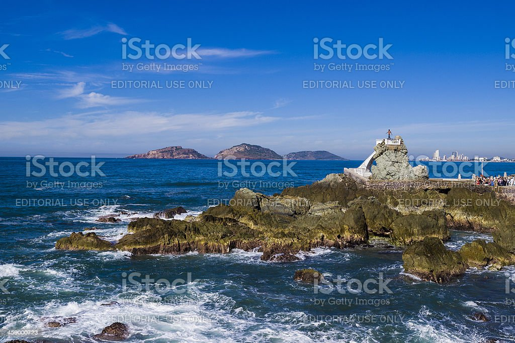 Rock diver, Mazatlan, Mexico stock photo