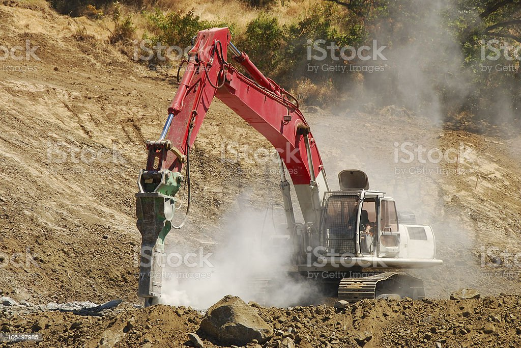 Rock Drill royalty-free stock photo