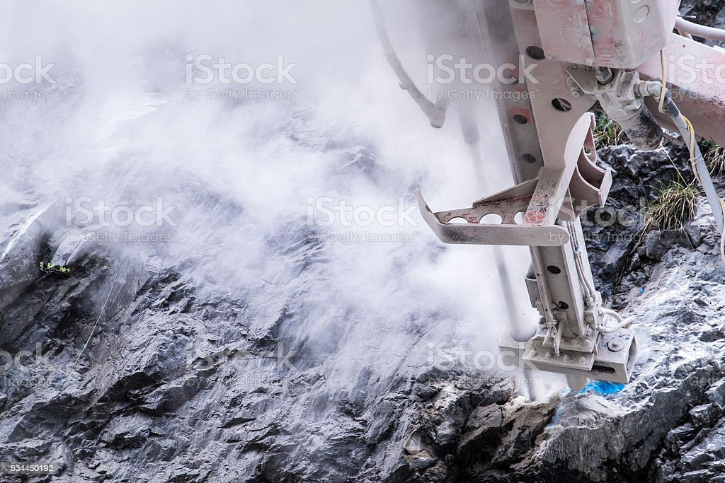 rock drill stock photo