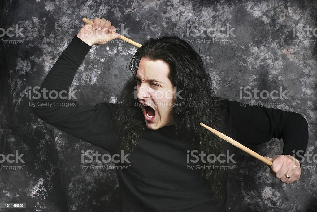 Rock Drummer stock photo