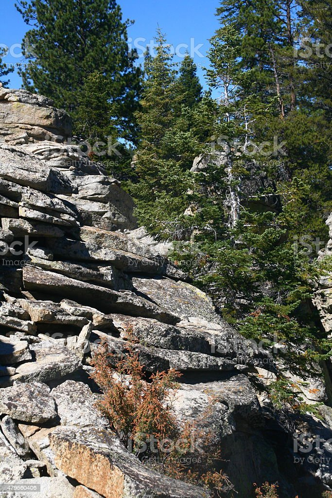 Rock Edge - Sequoia National Park stock photo