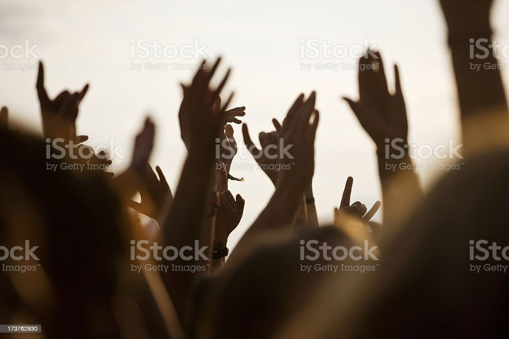 rock festival royalty-free stock photo
