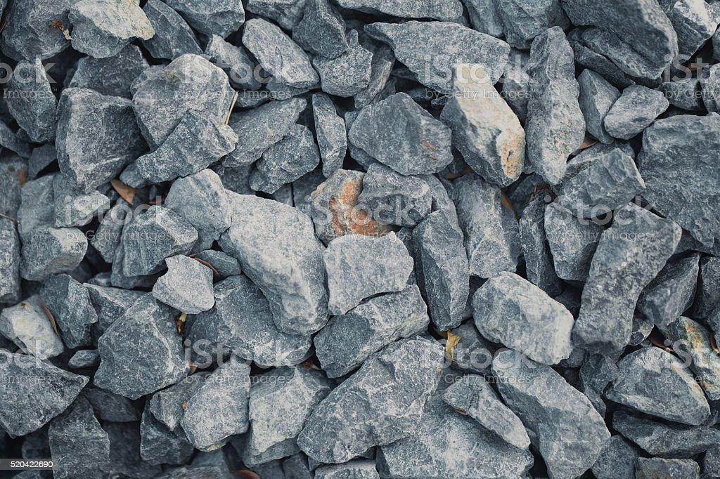 rock for railroad bearing construction. stock photo