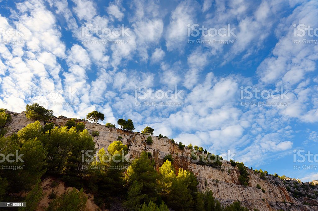 Rock Formation at French Riviera royalty-free stock photo