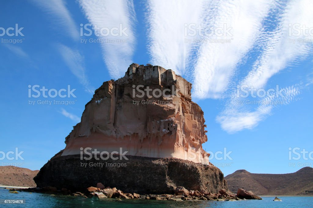 Rock formation Baja California royalty-free stock photo