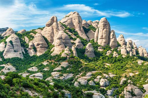 Rock formation in Montserrat, Catalonia Spain
