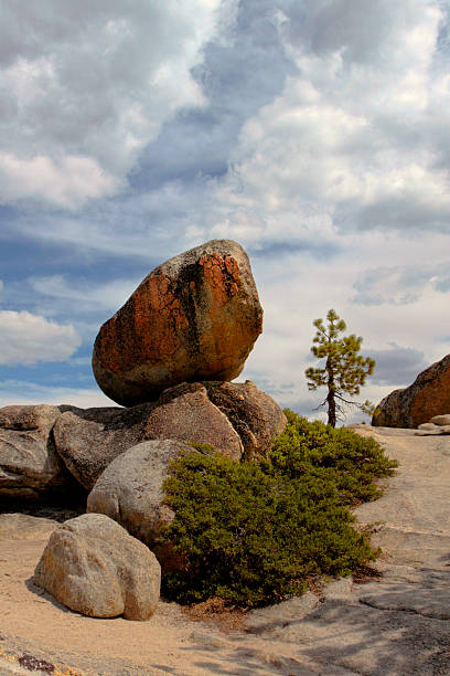 Rock Formation in Natural Balance stock photo