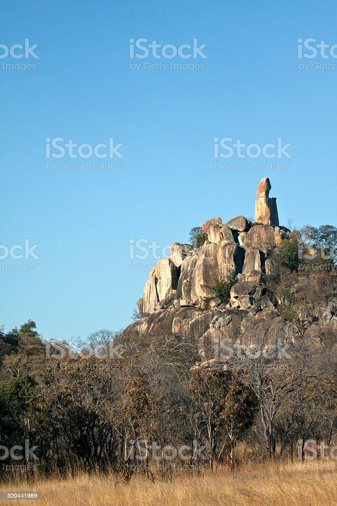 Rock formation in Zimbabwe stock photo