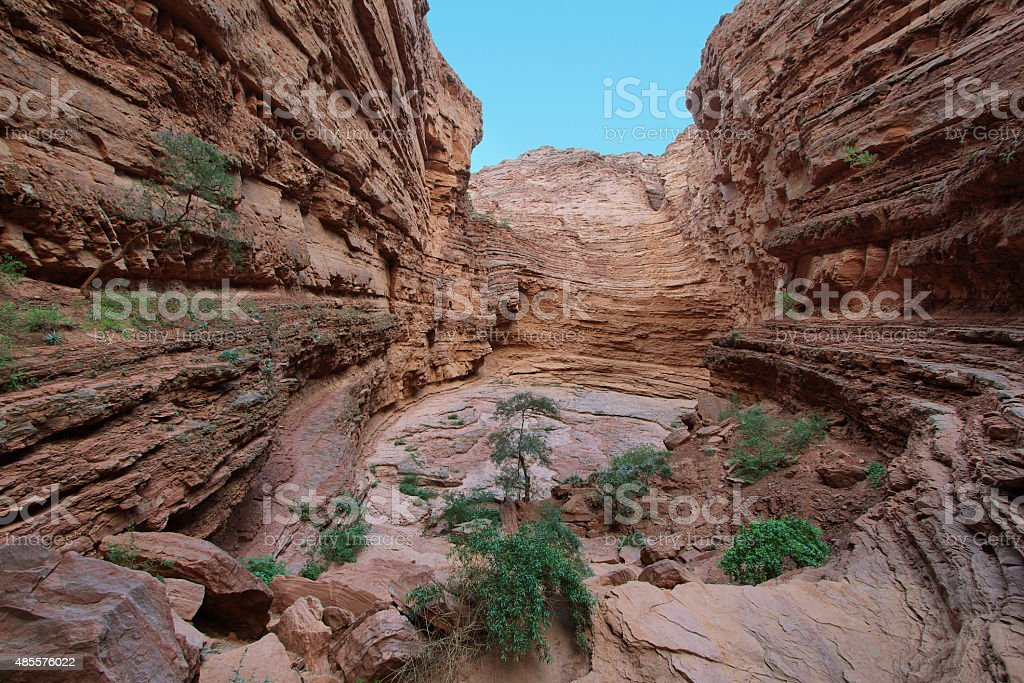 Rock formation known as Devil's Throat, Argentina stock photo
