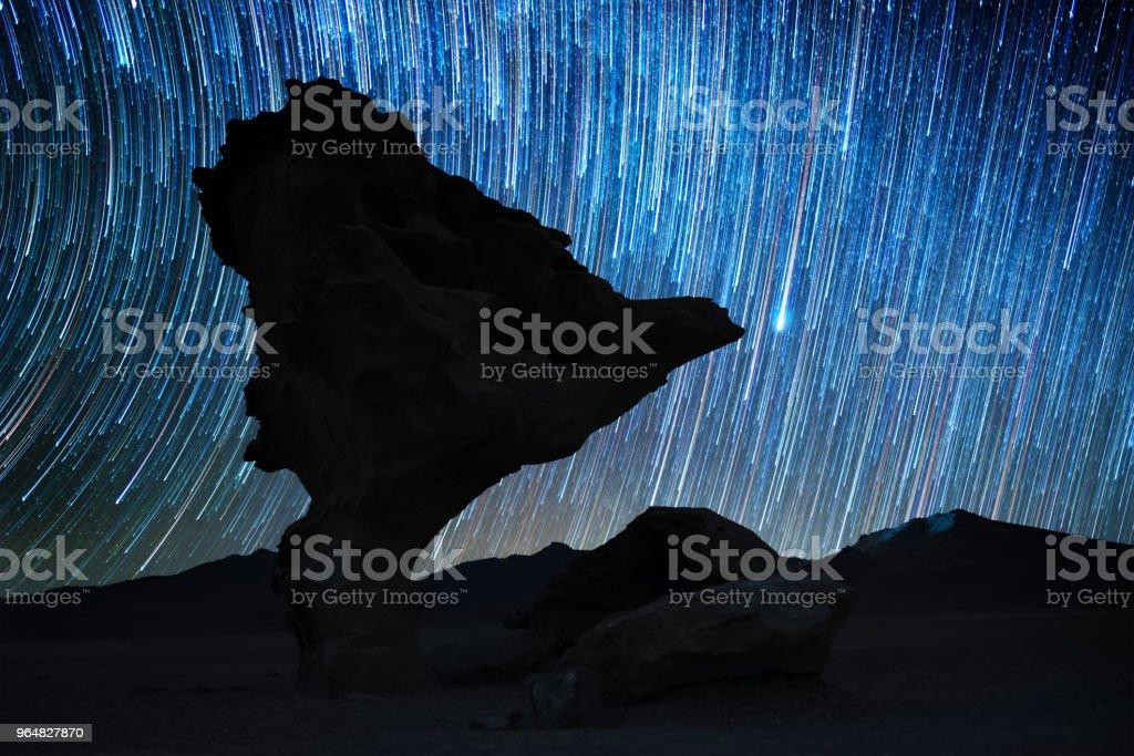 Rock formation named Arbol de Piedra royalty-free stock photo