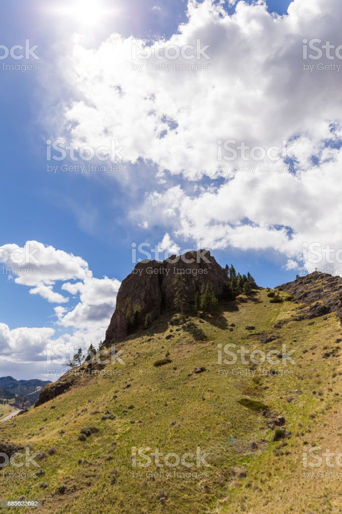 Rock Formation on Green Mountain stock photo