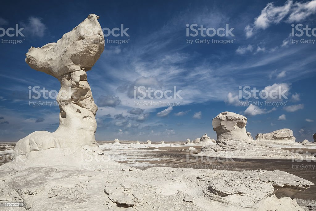Rock formation on White Desert of Egypt royalty-free stock photo