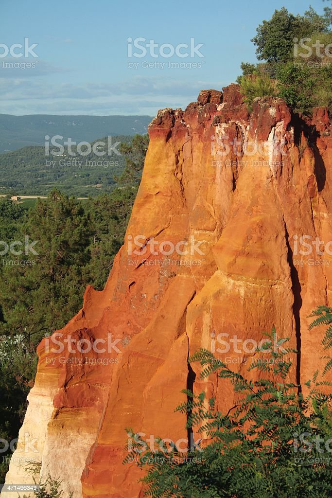 Rock formation Roussillon Provence royalty-free stock photo