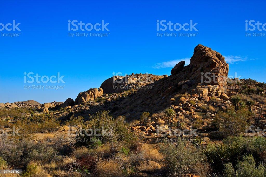 Rock formation under blue sky stock photo