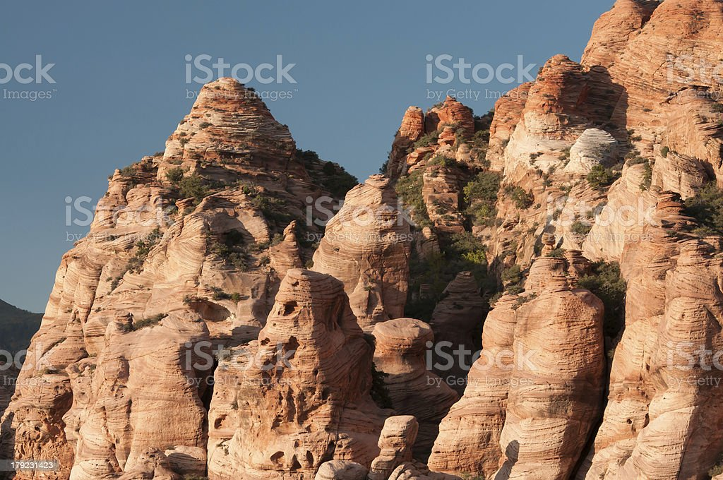 Rock formation Zion National Park royalty-free stock photo