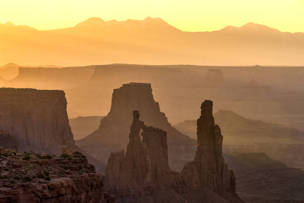 Rock formations and layeers, Canyonlands National Park stock photo