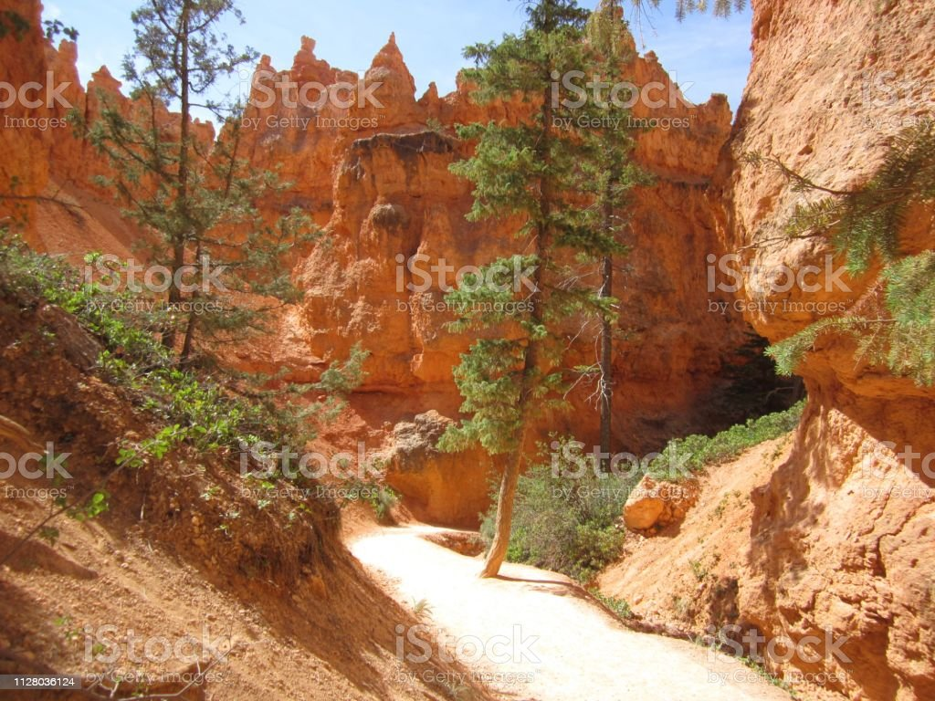 Rock formations and scenery at Bryce Canyon, UT stock photo