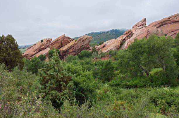 Rock Formations and Scenery of Red Rocks stock photo