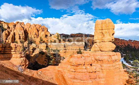 Rock formations at Red Canyon within Dixie National Forest in Utah, the United States