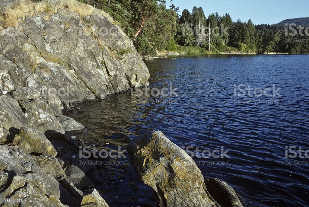 Rock Formations at Winter Cove royalty-free stock photo