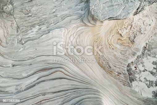 istock Rock formations from above, Australian Coast 957283086