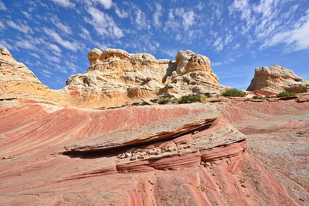 Rock formations in the Arizona desert, USA stock photo