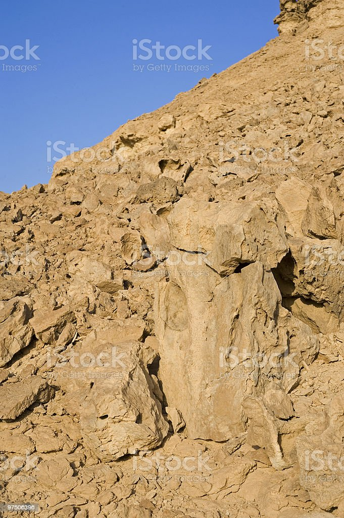 Rock formations in the desert royalty-free stock photo