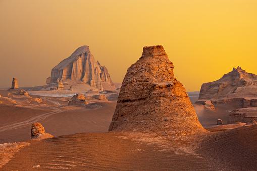 Kalutes in Lut Desert in Kerman, Iran