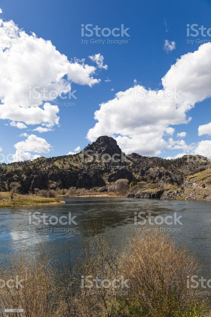 Rock Formations Near Large River stock photo