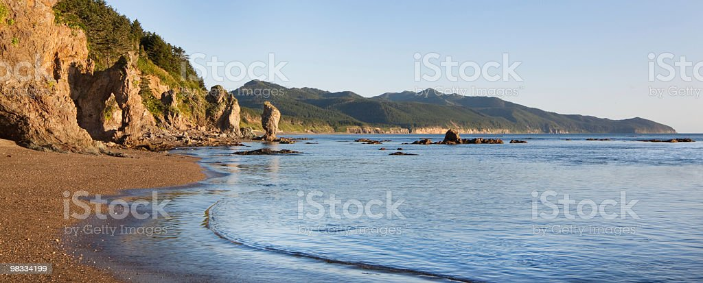 Formazioni rocciose di seashore foto stock royalty-free