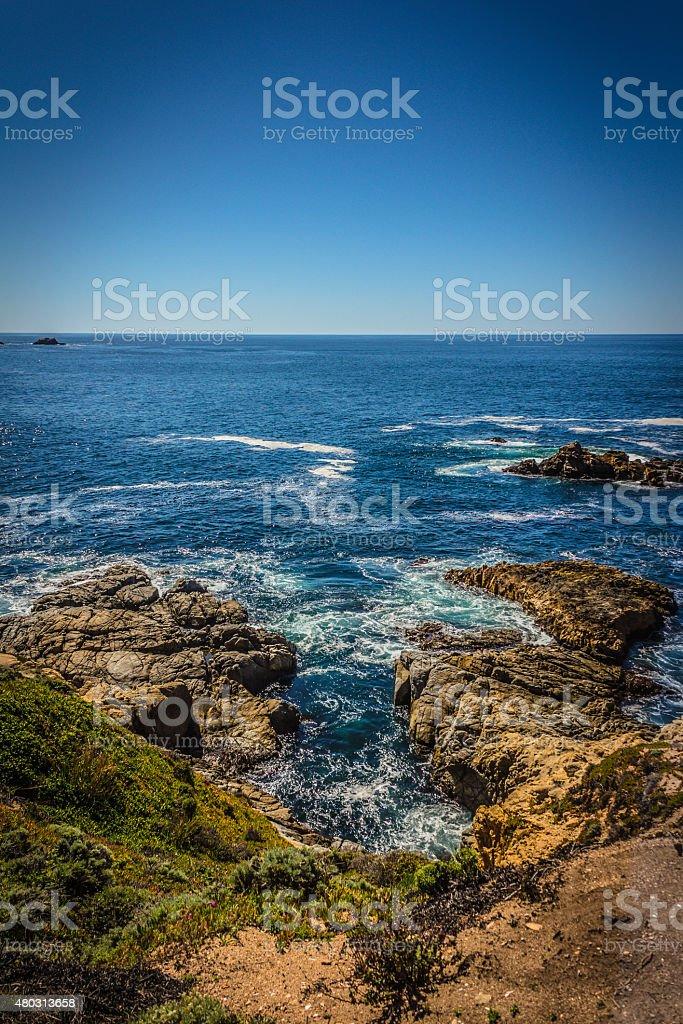Formaciones rocosas En el Big Sur, California, USA - foto de stock