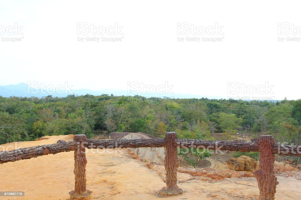 Rock formations place, Phae Muang Phi in the small cloud blue sky. royalty-free stock photo