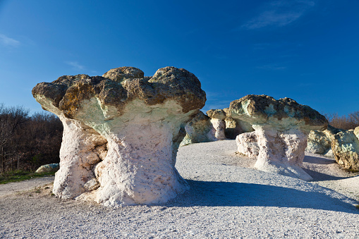 Rock Formations Resembling Mushrooms Stock Photo - Download Image Now