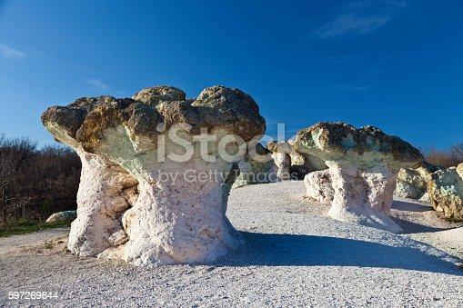 Rock Formations Resembling Mushrooms Stock-Fotografie und mehr Bilder von Berg