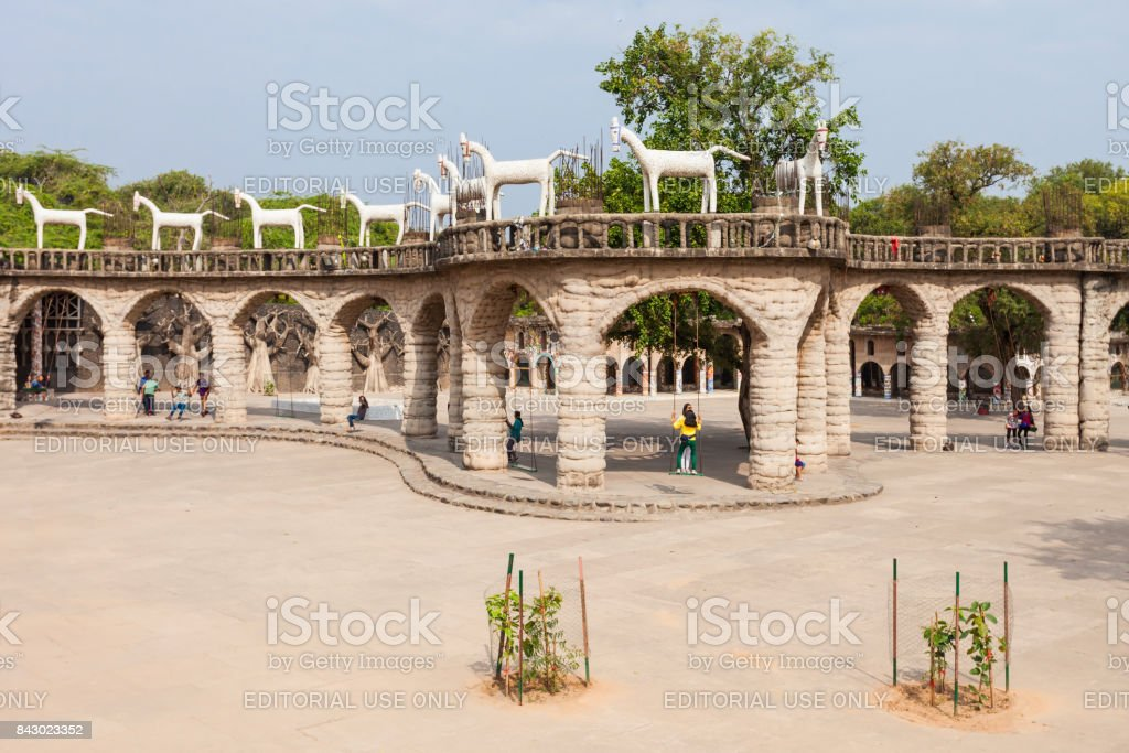 Rock Garden, Chandigarh stock photo