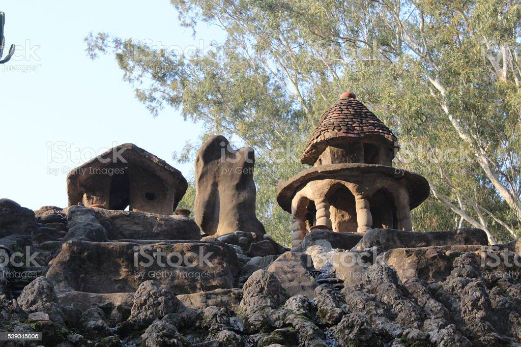 Rock Garden in Chandigarh, India stock photo