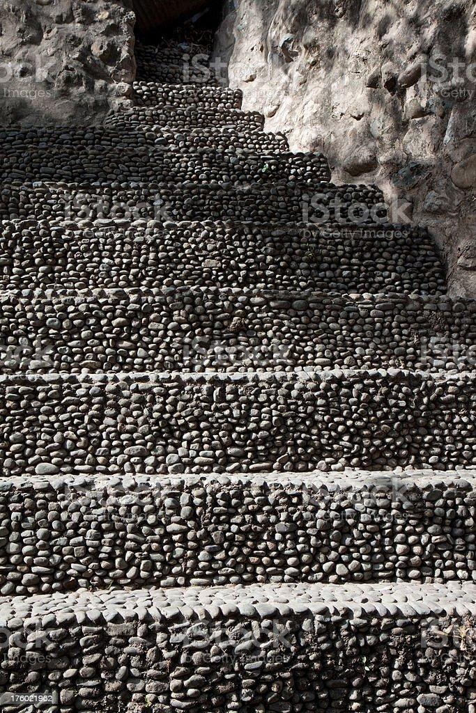 Rock Garden stairs stock photo
