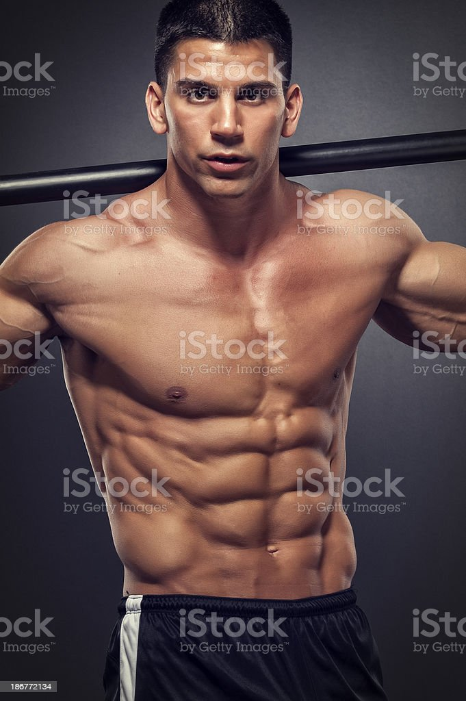 Rock Hard Abs royalty-free stock photo