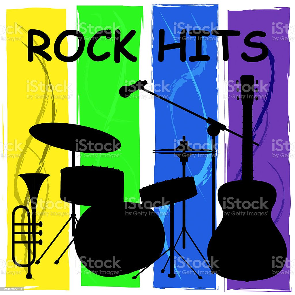 Rock Hits Means Acoustic Soundtrack And Charts stock photo