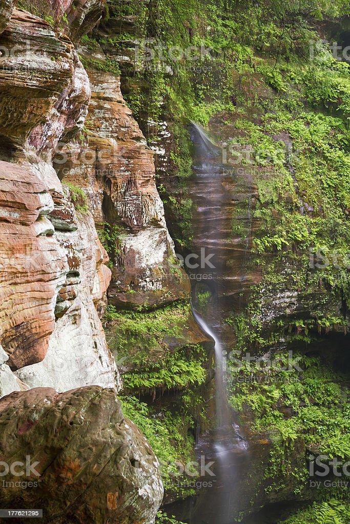 Rock House Waterfall stock photo