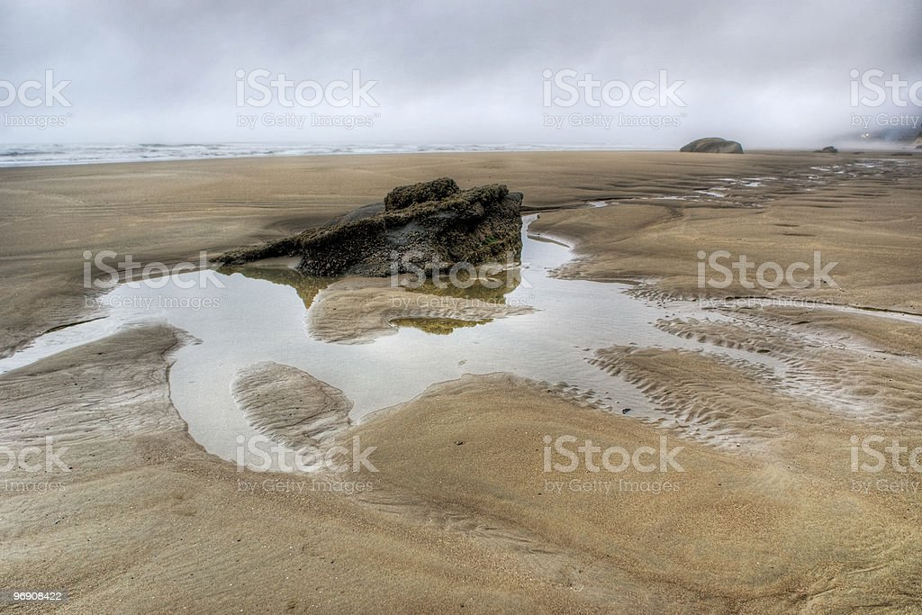 Rock in a Puddle royalty-free stock photo