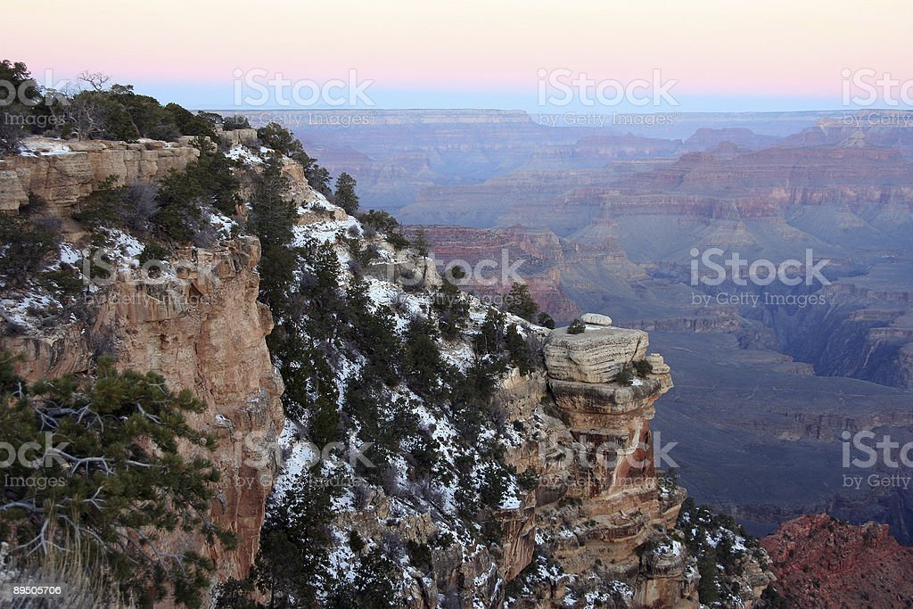 Rock in Canyon royalty-free stock photo