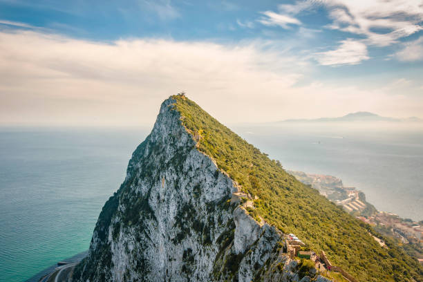 Rock in Gibraltar stock photo